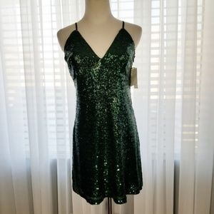 Xtraordinary Dress Sz S Mini Green Sequined